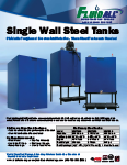 Fluidall single wall steel tanks stationary