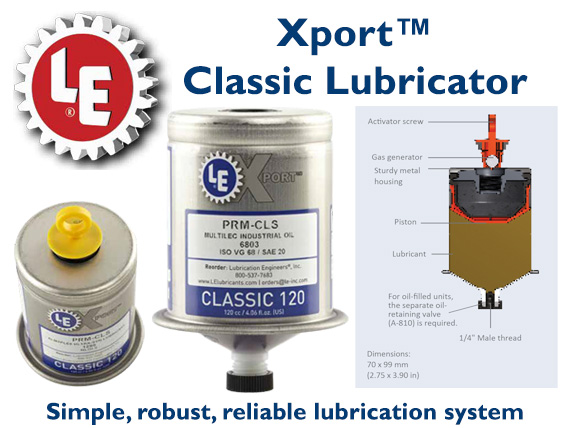 LE Xport Classic Lubricator