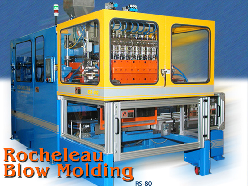 Rocheleau RS-80 Reciprocating Screw Blow Molding Machine